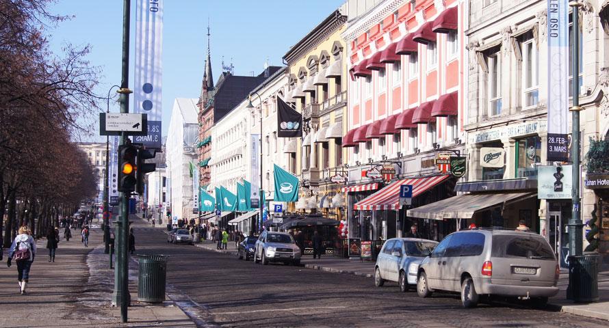 Innenstadt Oslo Norwegen