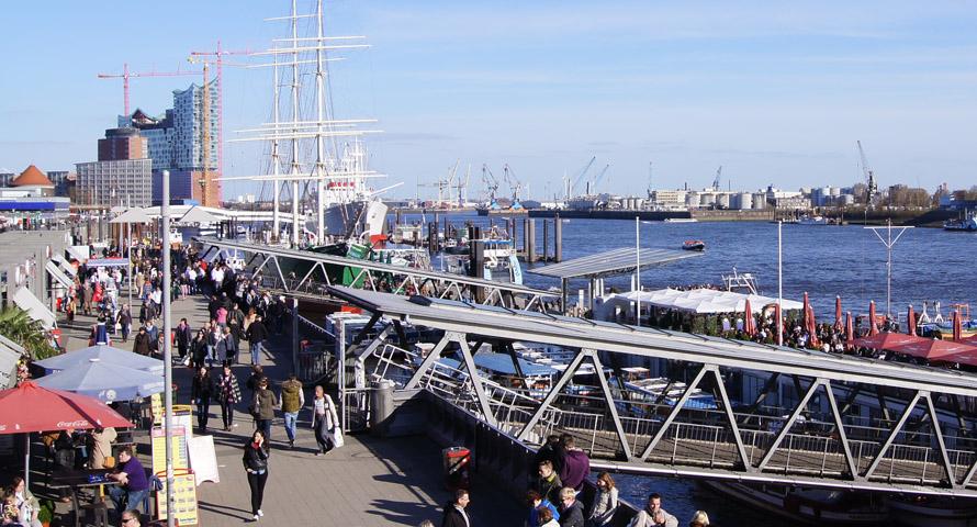 St. Pauli Landungsbrücken in Hamburg