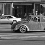 Rostiger Käfer auf Hamburgs Straßen