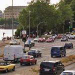 Autoverkehr in der Hamburger Innenstadt
