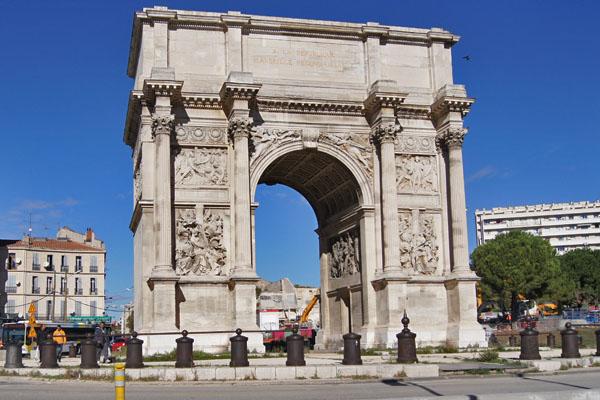 Arc de Triumph in Marseille