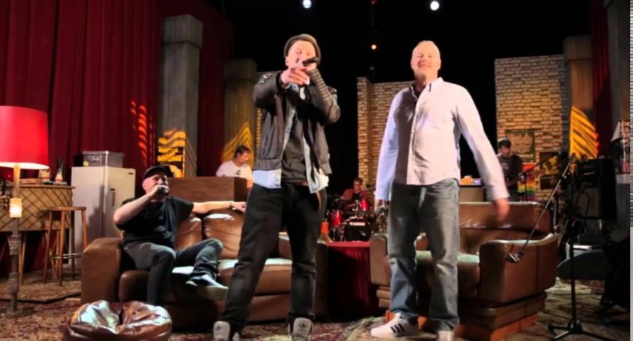 Nico Suave & Stefan Raab performen Hamburger Rap-Medley