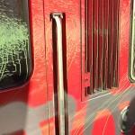 Farbanschläge auf Hamburger S-Bahn