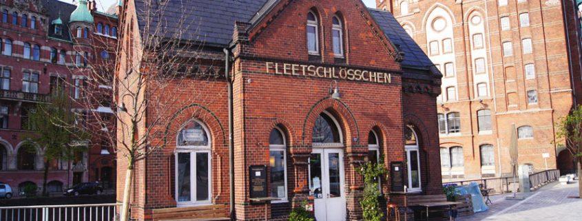 Das kleine Fleetschlösschen in der Hamburger Speicherstadt