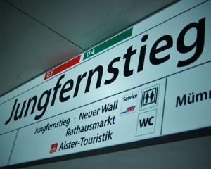Haltestelle Jungfernstieg Hamburg