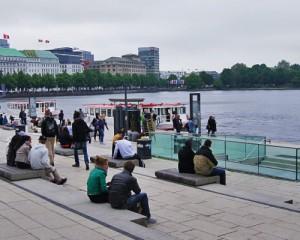 Erster Spaziergang durch Hamburg