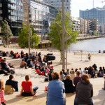 Sommer in der HafenCity im August