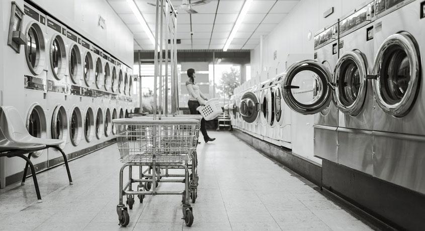 Klassischer SB-Waschsalon in Hamburg