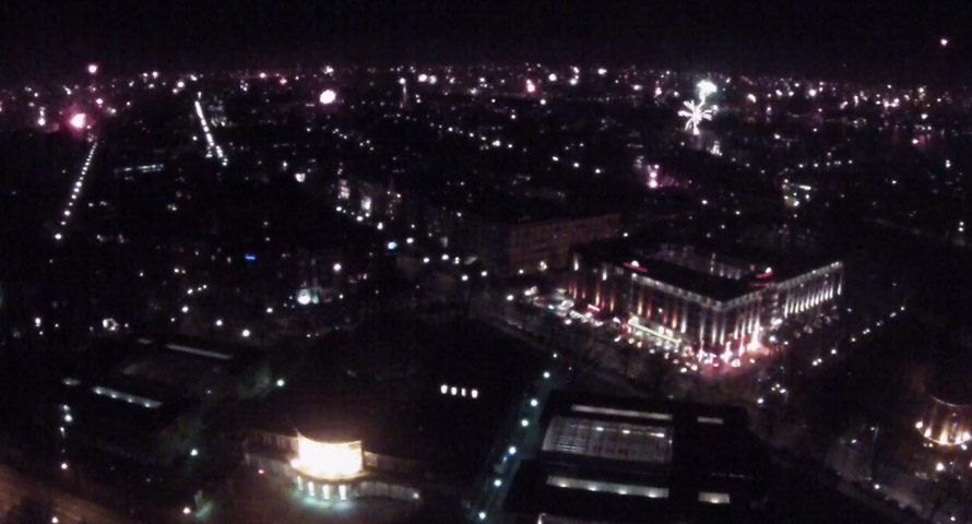 Silvester im Zeitraffer: Blick über ganz Hamburg