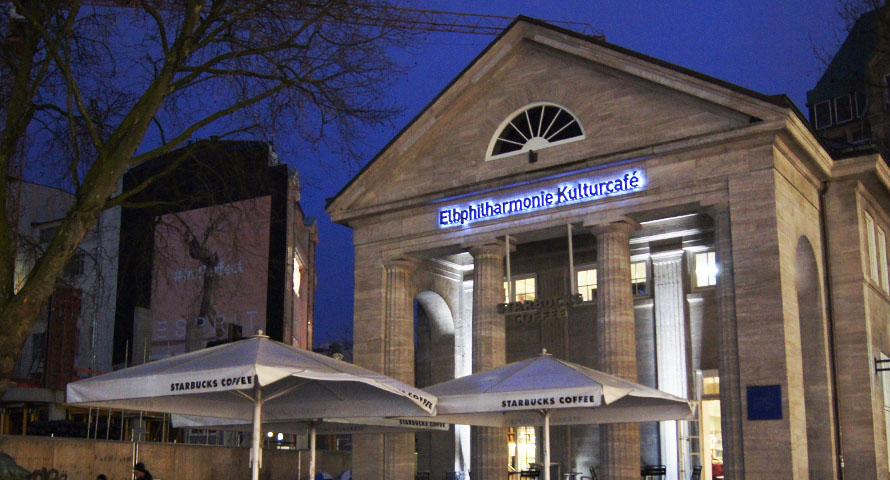 Elbphilharmonie Kulturcafé am Mönckebergbrunnen