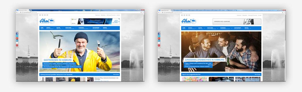 Werbung im Hamburger Onlinemagazin