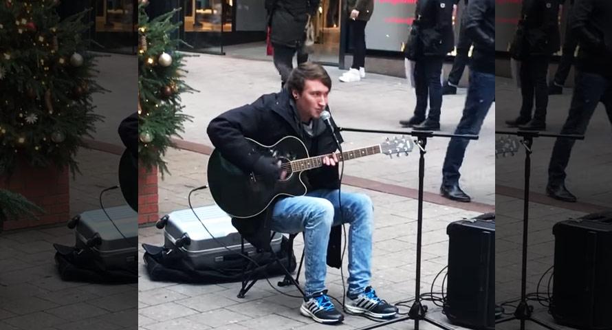 Straßenmusiker covert CL500 von GZUZ