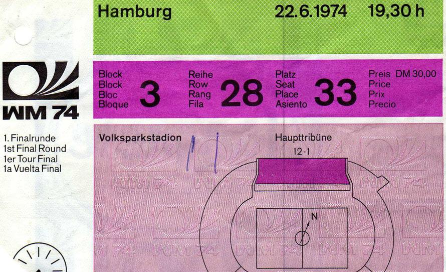 Karte für BRD gegen die DDR