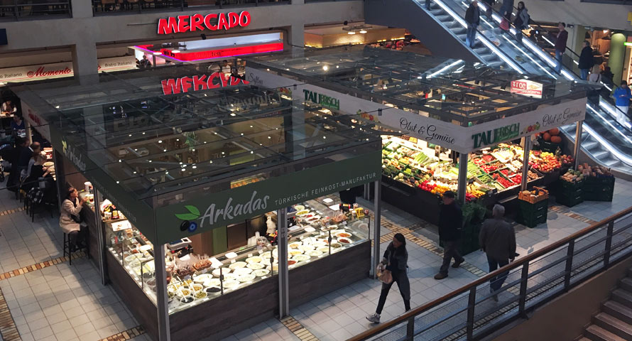 Hier in der Markthalle des Mercado Altona