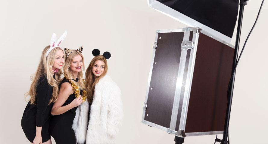 Fotobox im Einsatz auf einer Party