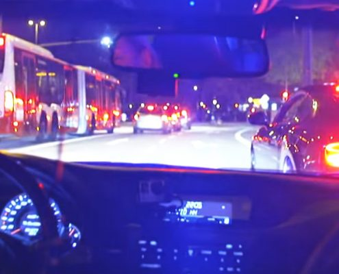 Blaulicht Verkehrskontrolle in Hamburg
