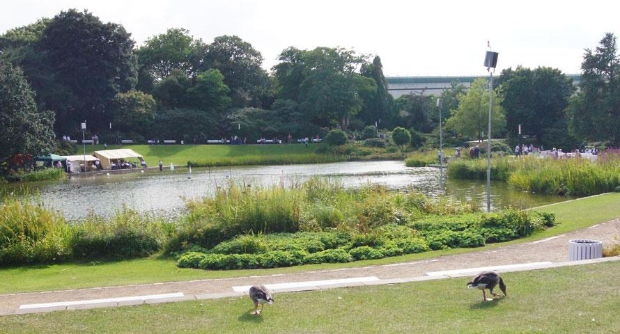 Parksee Planten un Blomen - hier finden die beliebten Wasserspiele statt