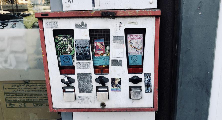Hamburgs letzte aktive Kaugummiautomaten