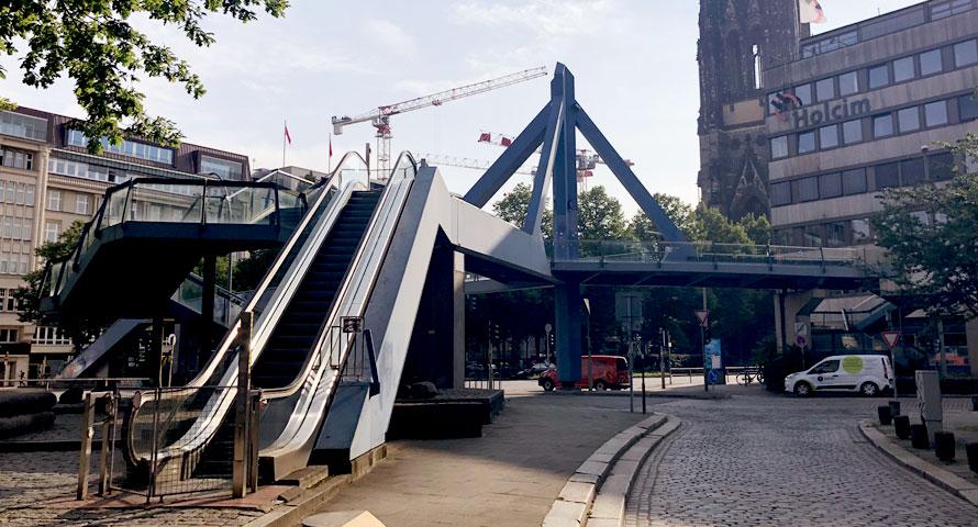 Abriss der Cremonbrücke Hamburg